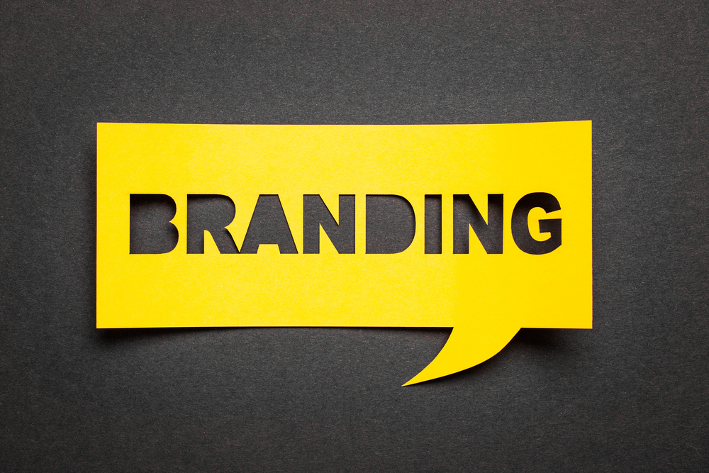Yellow branding graphic.