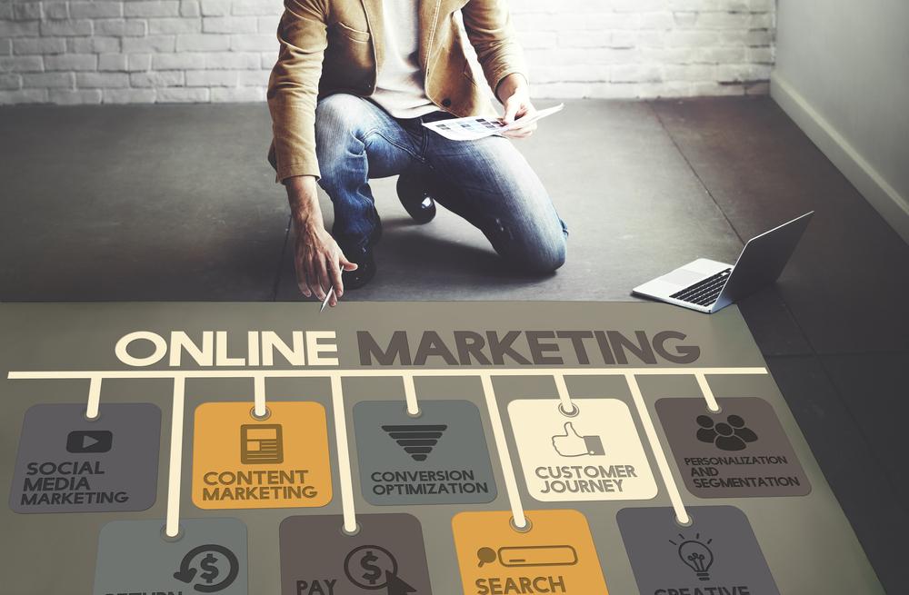 Online marketing process.