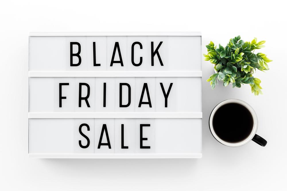 Black Friday Sale sign.