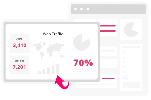 Web traffic statistics graphic.