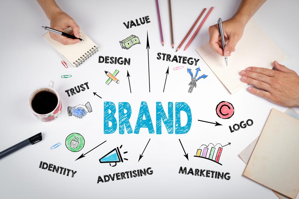 Branding digital marketing process.